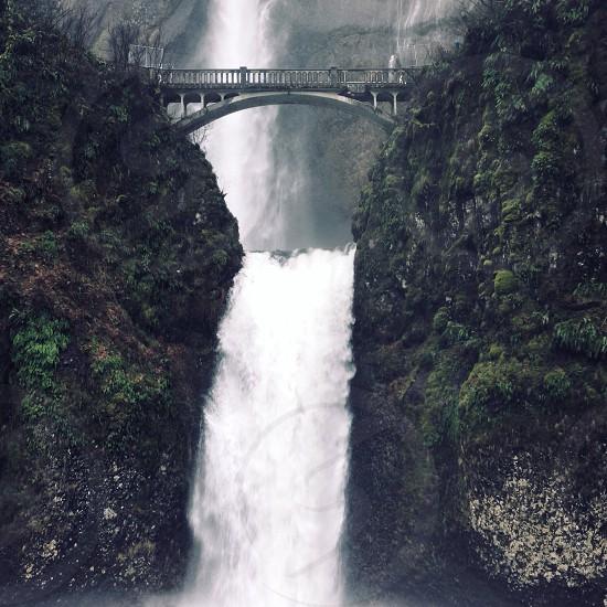 waterfalls bridge photo photo
