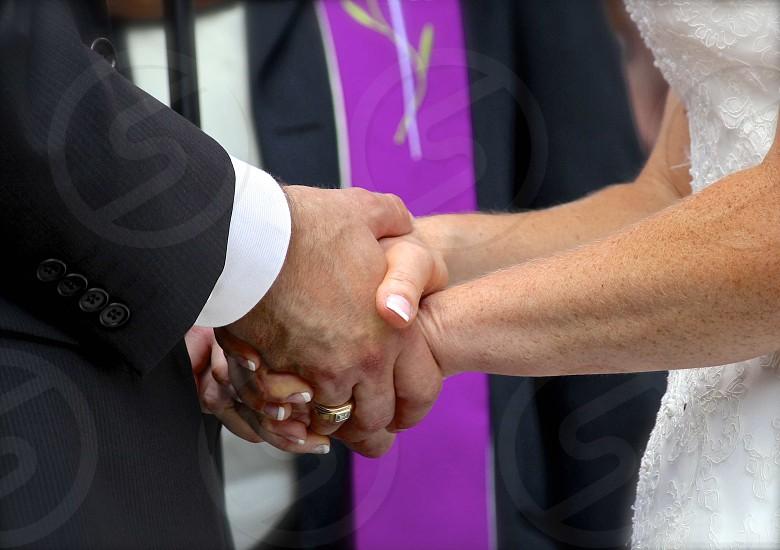 Wedded hands photo