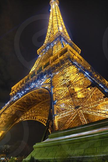 Eiffel Tower paris city of lights night romance beauty monument wonder architecture photo