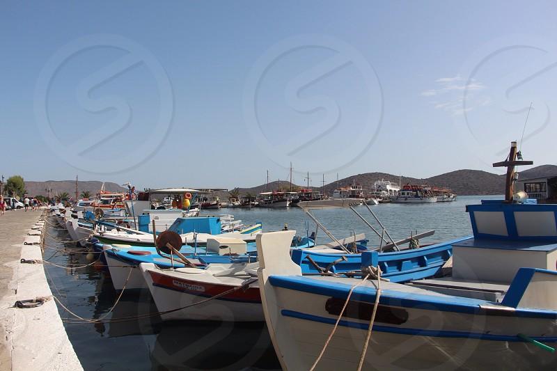 Boats sea port Crete Greece  photo