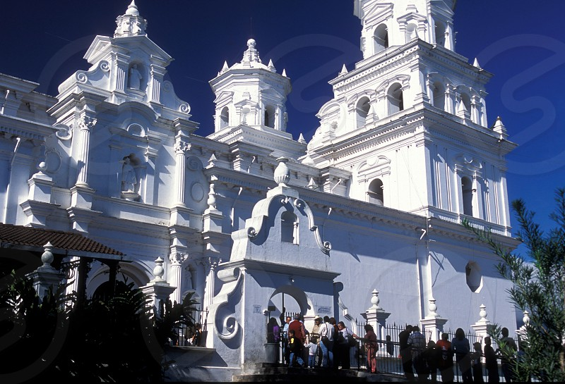 the church in the town of Esquipulas in Guatemala in central America.    photo