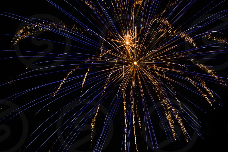 Blue Firework from 4th of July photo