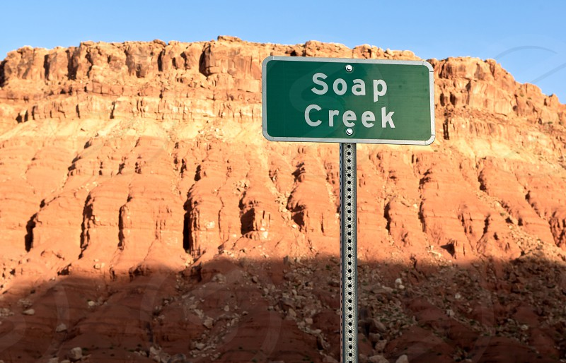 A strangely named dry creek in Arizona near the Vermillion Cliffs that implies that you can take a bath here. photo