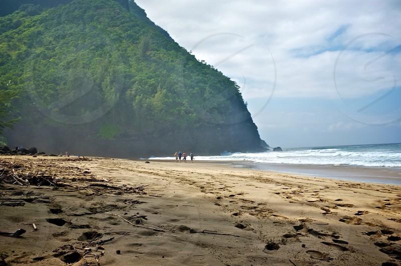 Beach life. Kauai Hawaii.  photo