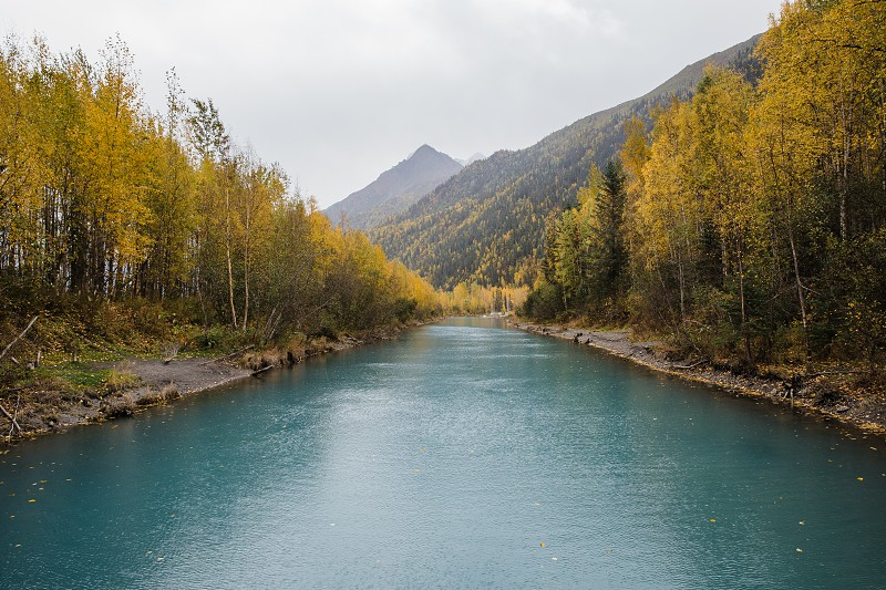 Colorful autumn season in Alaska photo