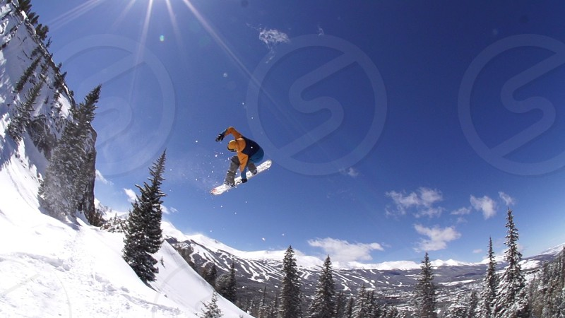 Snowboarding winter snow  photo