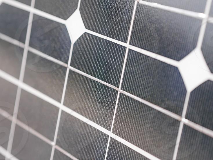 Photovoltaic Solar Panel for Renewable Electric Production Closeup photo