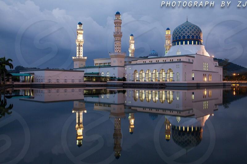 马来西亚亚庇水上清真寺 photo