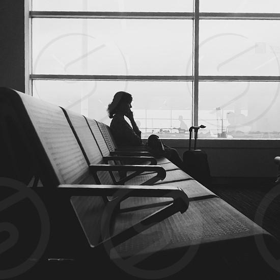 black wheeled luggage photo