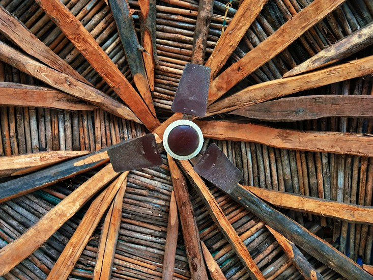 Beautiful piece of architecture such a mesmerizing ceiling of a wooden shade. photo