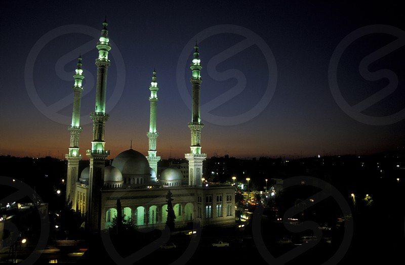 a mosque in the old town in the city of Aleppo in Syria in the middle east photo