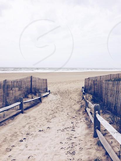 Coast beach sand New Jersey ocean nature water outdoors photo