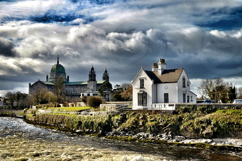 The old fisheries building near Galway Cathedral Ireland   photo