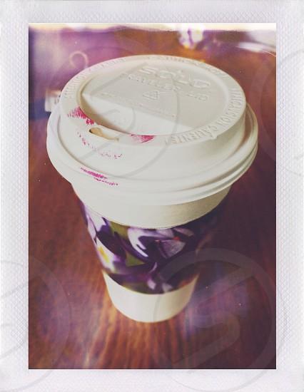 white plastic cup  photo