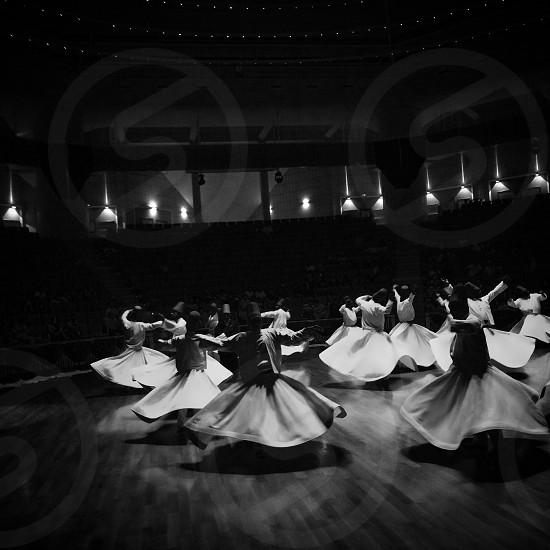 Whirling Dervishes in Konya Turkey  photo