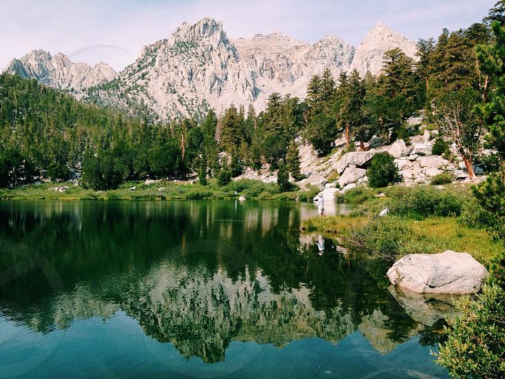 serene lake water photo
