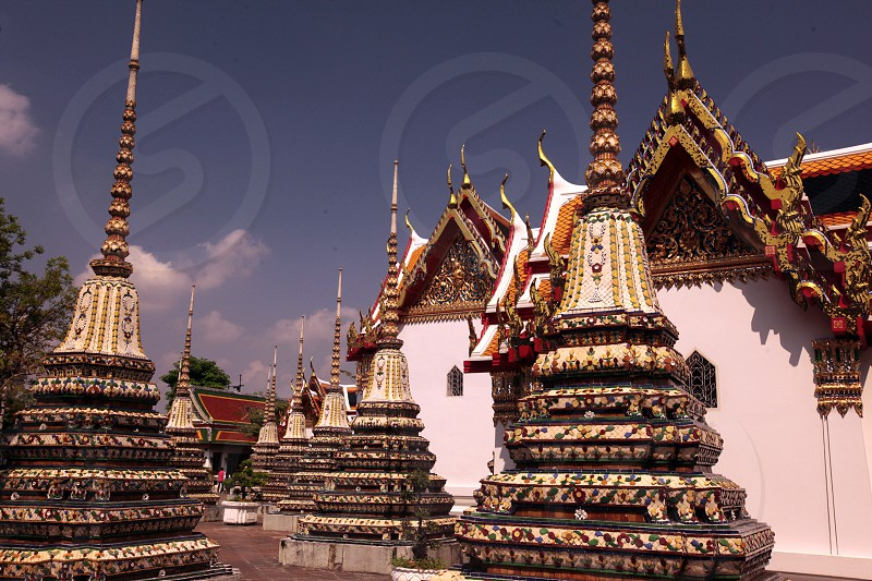 the wat Pho in Banglamphu in the city of Bangkok in Thailand in Suedostasien. photo