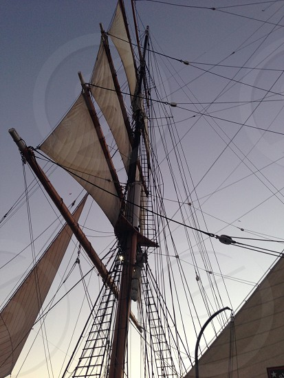 Sail sail boat schooner perspective rigging old school history adventure discovery photo