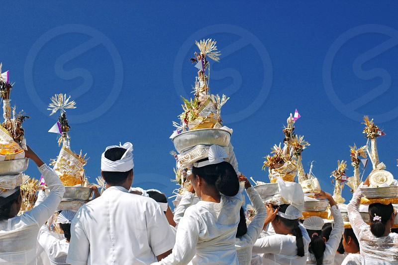 ngaben ceremonial in Bali photo