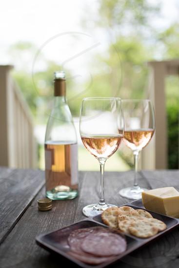 rose wine beverage festive elegant photo