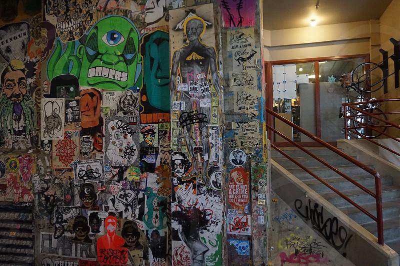 Gum Wall Meets Graffiti Art.  photo