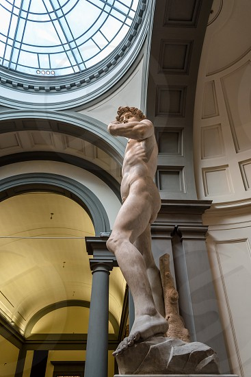 Statue of David by Michelangelo in Florence Italy photo