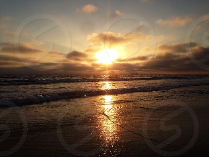 beach over sunrise photo