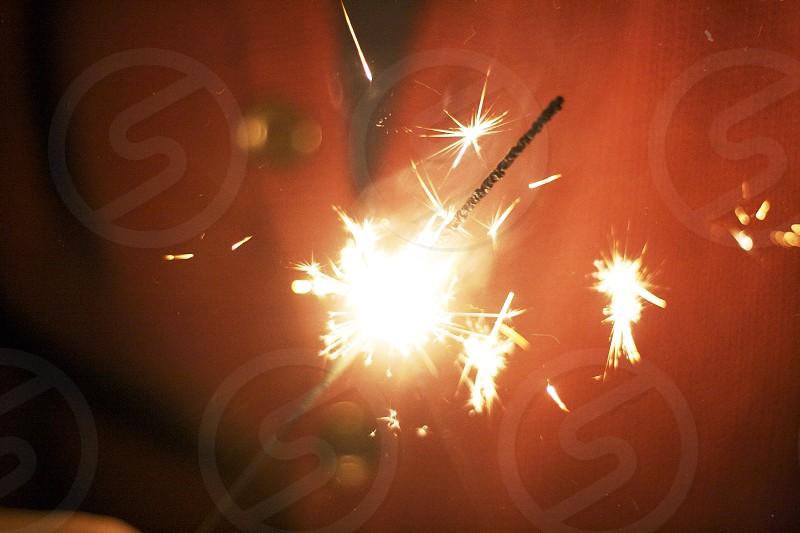 lighted fireworks photo