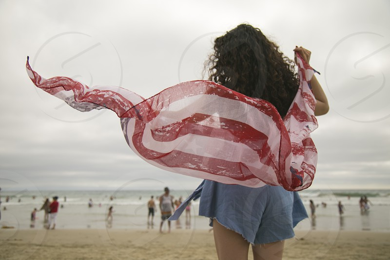 flag fourth of July holiday free freedom hope people beautiful red white blue usa photo