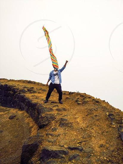 Superman Colour Crazy Insane stupid idiotic Drama young sky Fog maniac pune India Fort RuleNature. photo