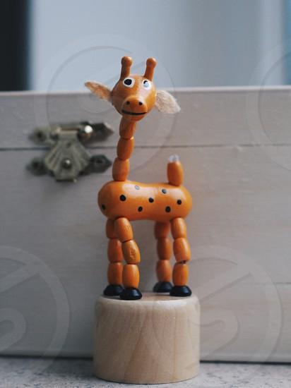 giraffe plastic toy photo