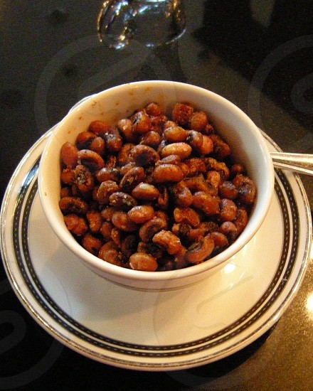 Fried black eyed peas in bowl photo