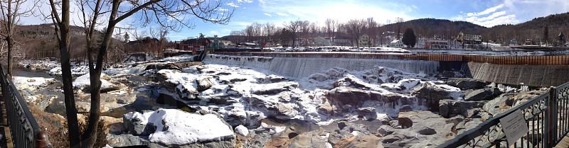 Salmon Falls in winter photo