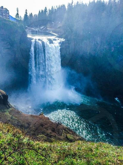 Waterfall snoqualmie falls photo