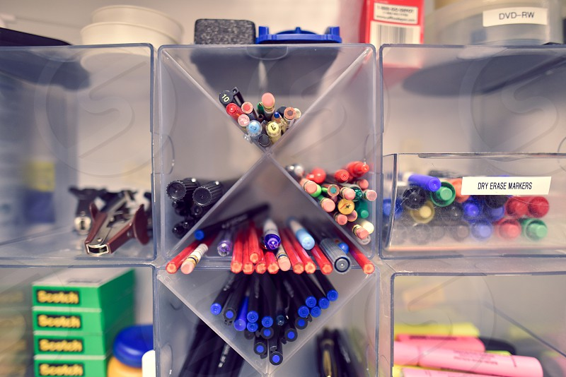 office supplies office work pens pencils photo