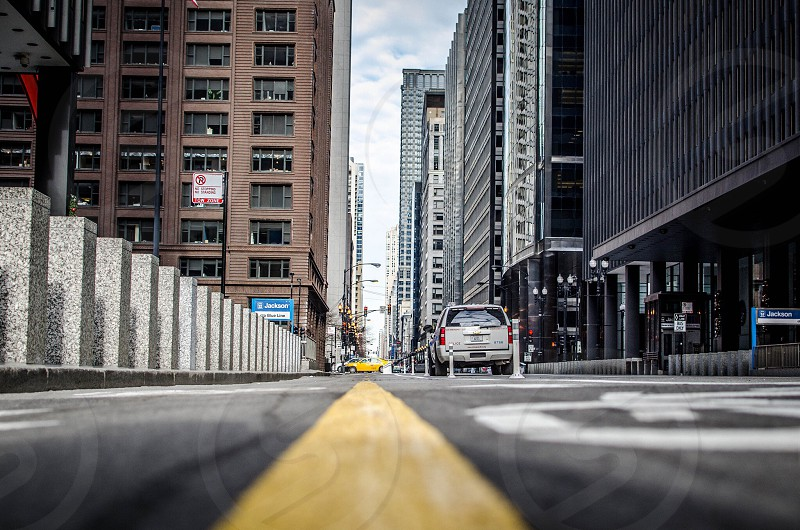 Bike path in the loop. Chicago. photo