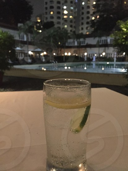 Gin and tonic at the Goodwood Park hotel Singapore photo