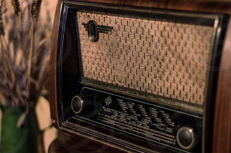 Portrait of vintage radio. photo