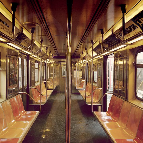 interior of subway car photo