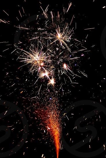 Fireworks sparks  photo
