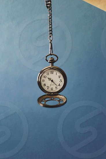 gold watch fob with chain photo