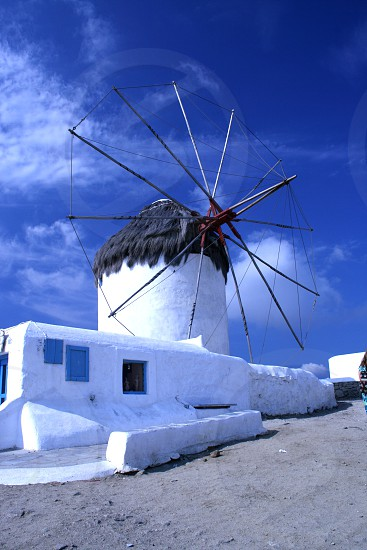 Mykonos Greece - Windmill photo