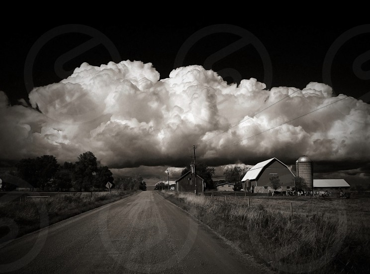 Storm clouds over rural barn. Wausau WI photo