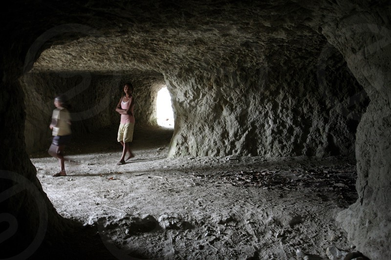 a tunnel of the japanese army at the ww2 war in the town of Venilale in the south of East Timor in southeastasia. photo