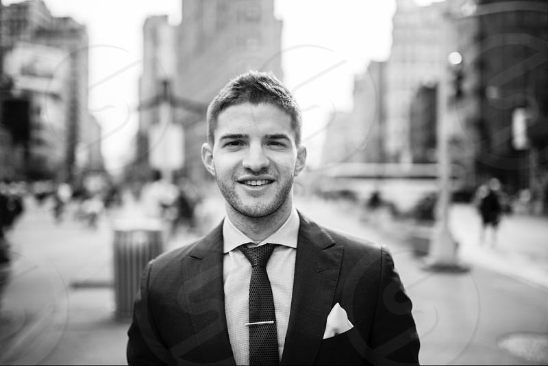 Business headshots of men in New York City photo