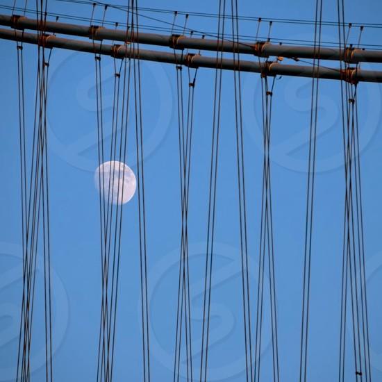 quater moon photograph photo