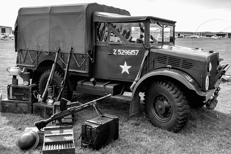 Old US Army Truck Parked at Shoreham Airfield photo