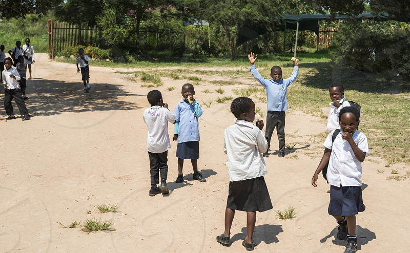 AcornhoekSouth africa17-03-2014 African children at the school yard getting education in small town in the township of acornhoekAcornhoek is poor and not all children can get education in africa photo