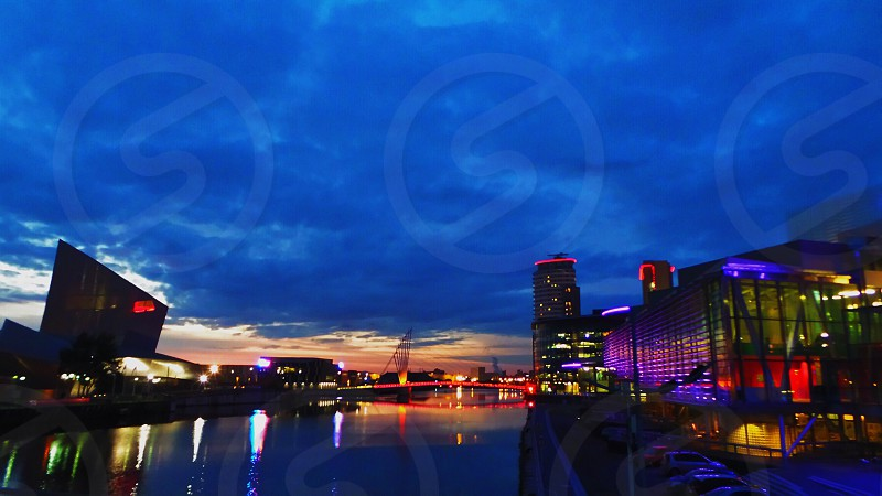 Salford Quays by Night photo