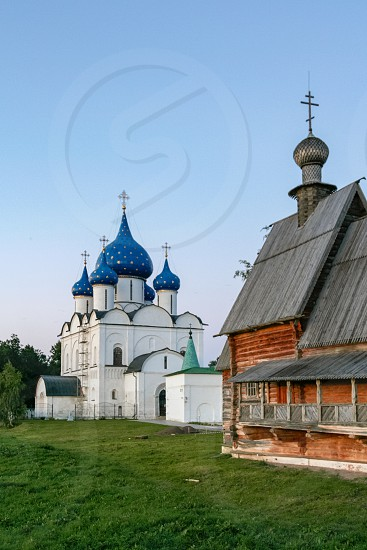 Cathedral of the Nativity of the Theotokos and Nikolskaya church Russia Suzdal photo